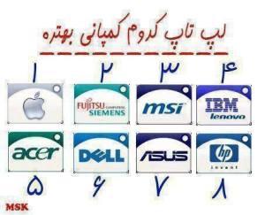 لپ تاپ کدام کمپانی